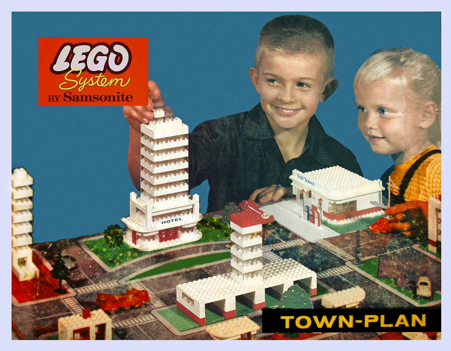 lego town plan instructions