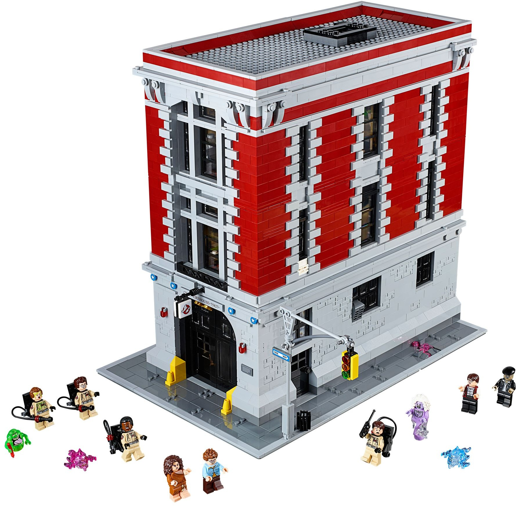 Ghostbusters Brickset Lego Set Guide And Database 75828 Ecto 1 Ampamp 2 Firehouse Headquarters 75827 2016