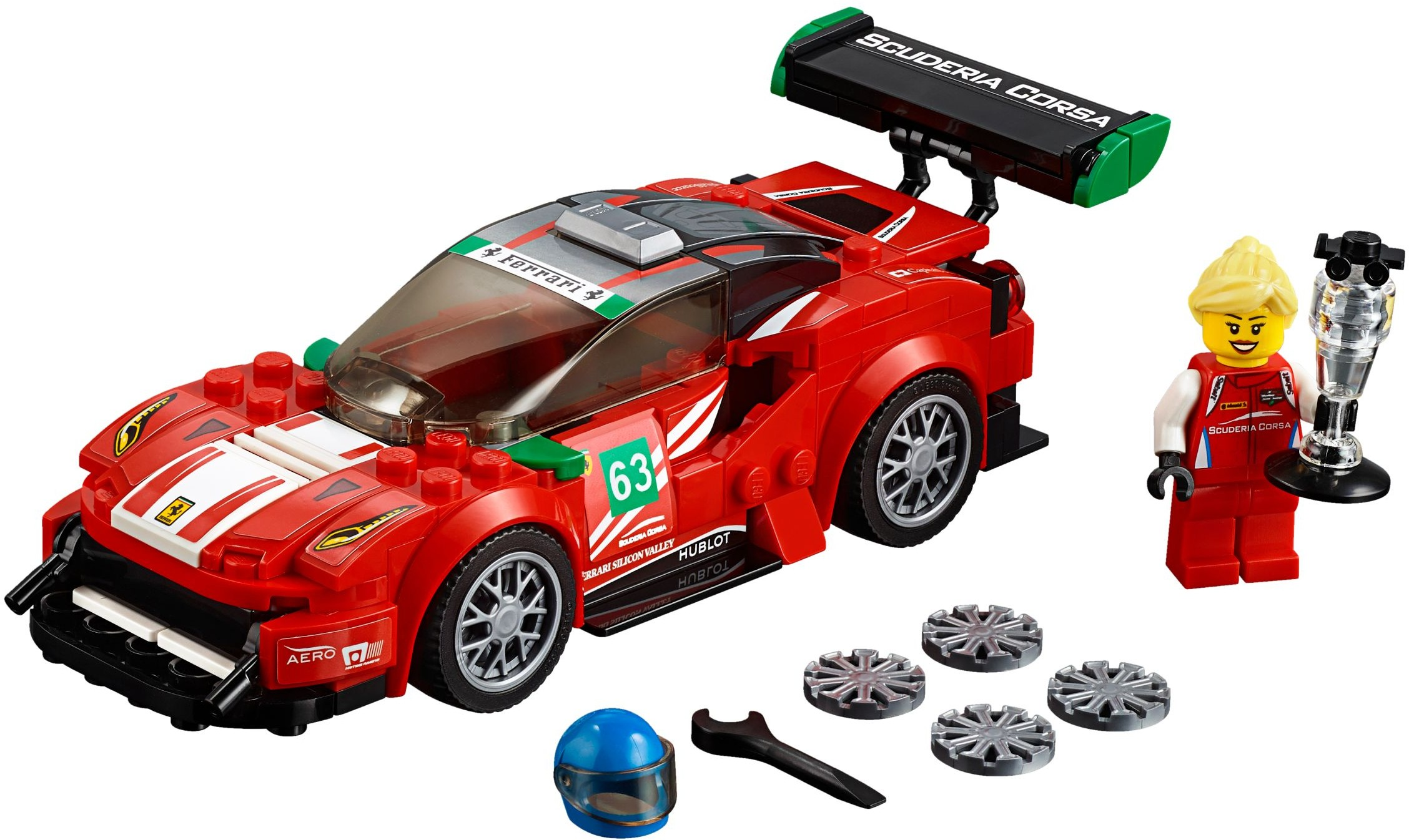 Speed Champions Brickset Lego Set Guide And Database 75873 Audi R8 Lms Ultra Ferrari 488 Gt3 Scuderia Corsa 75886 1