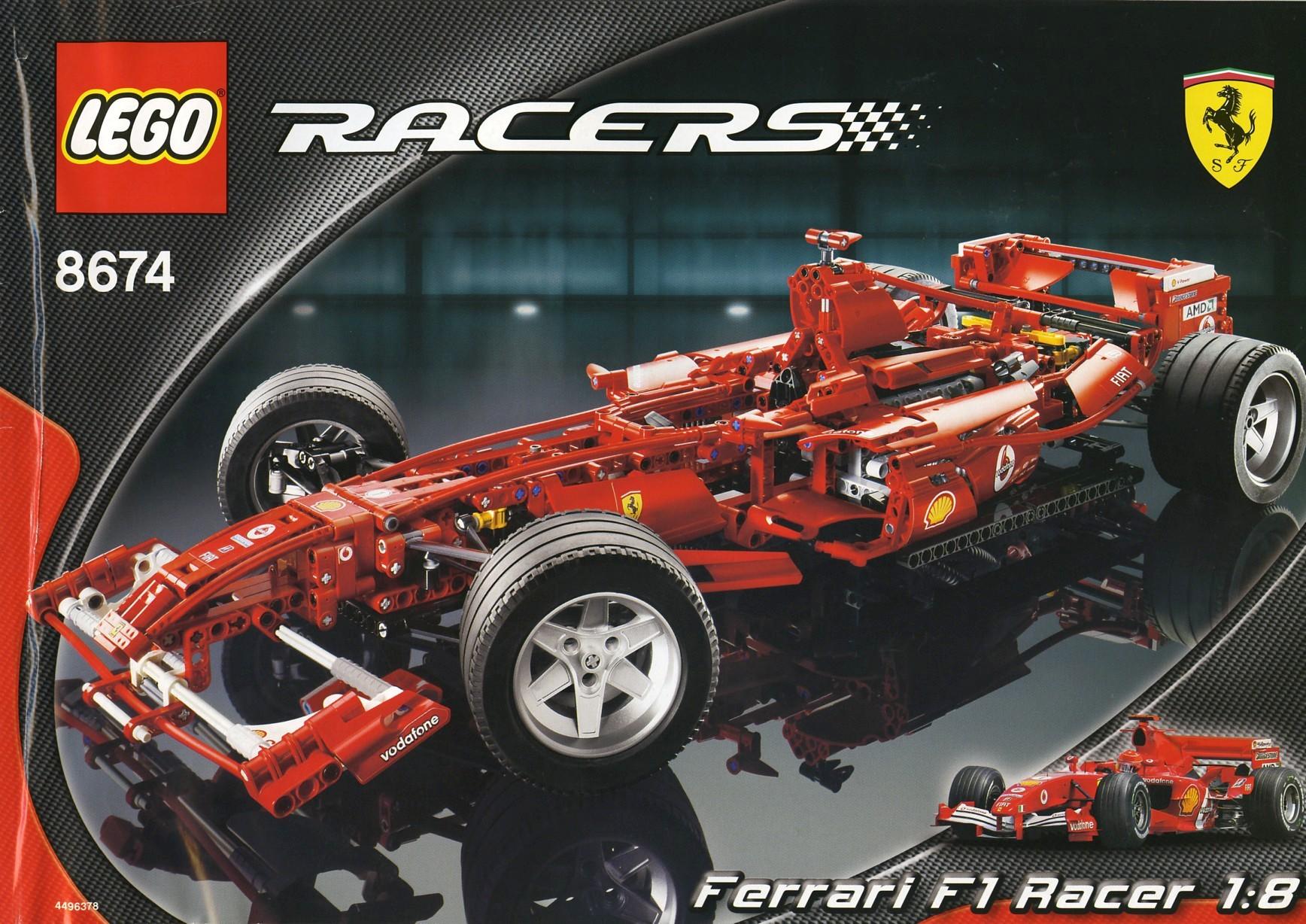 TOYS CUSTOM STICKERS for LEGO 8674 Ferrari f1 racer ETC VERY NICE! MODELS