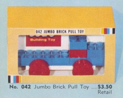 Lego 042 Jumbo Brick Pull Toy