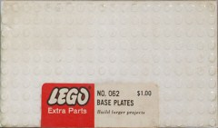 Lego 062 5 - 10X20 base plates - White