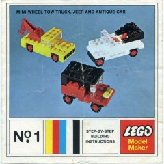Lego 1 Mini-Wheel Model Maker No. 1 (Kraft Velveeta)