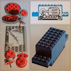 Lego 100 4.5V Motor with Wheels (Small Version)