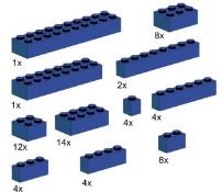 Lego 10009 Assorted Blue Bricks