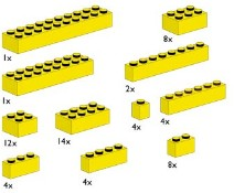 Lego 10010 Assorted Yellow Bricks