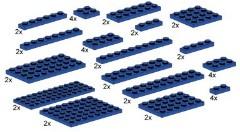 Lego 10011 Assorted Blue Plates