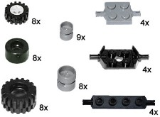 Lego 10048 Small Wheels and Axles