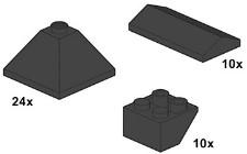 Lego 10053 Black Roof Tiles