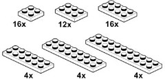 Lego 10056 White Plates