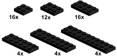 Lego 10057 Black Plates
