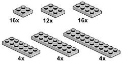 Lego 10060 Grey Plates