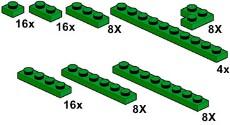 Lego 10063 Dark Green Plates