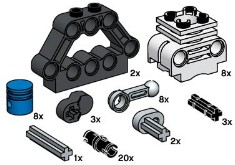Lego 10077 Technic Motor