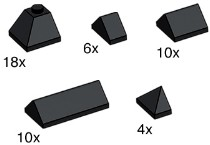 Lego 10160 Black Ridge Tiles