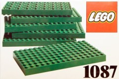 Lego 1087 6 Lego Baseplates 8 x 16 Green