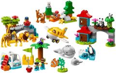 LEGO Bunny Sitting w// Black Nose /& White Beard Lt Gray Animal Minifig