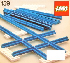 Lego 159 Straight Track with Crossing