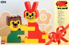 Lego 1594 Rabbit and Bear Friend