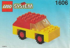 Lego 1606 Red and Yellow Car