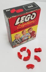 Lego 224 Bricks Curved