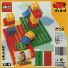 Lego 2303 Red and Green Building Plates