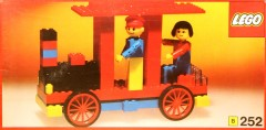 Lego 252 Locomotive with driver and passenger