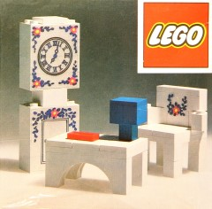 Lego 270 Grandfather Clock, Chair and Table