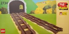 Lego 2734 Straight Track (Straight Rails)