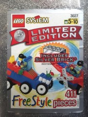 Lego 3027 Limited Edition Silver Freestyle Bucket