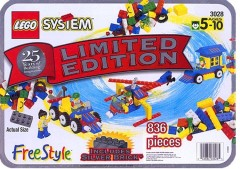 Lego 3028 Limited Edition Silver Freestyle Tub