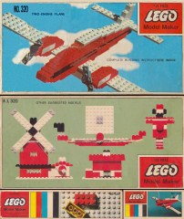 Lego 320 Red Airplane Set