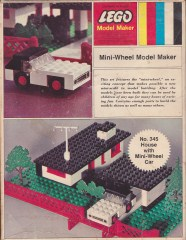 Lego 345 House with Mini-Wheel Car