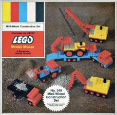 Lego 349 Mini-Wheel Construction Set