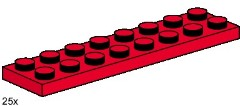 Lego 3491 2x8 Red Plates