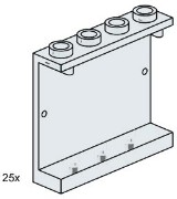 Lego 3507 1x4x3 Wall Element Clear