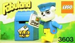 Lego 3603 Boris Bulldog and Mailbox