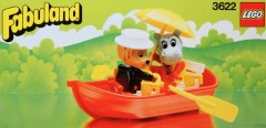 Lego 3622 Rowboat with Lionel Lion and Hannah Hippopotamus