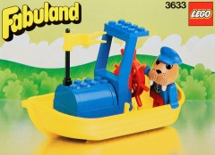 Lego 3633 Motor Boat with Walter Walrus