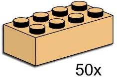 Lego 3730 2x4 Tan Bricks