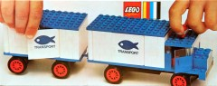 Lego 375 Refrigerator Truck and Trailer