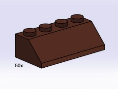 Lego 3755 2x4 Roof Tiles Steep Sloped Brown