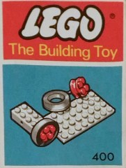 Lego 400 Small Wheels with Axles (The Building Toy)