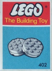 Lego 402 White Turntables (The Building Toy)