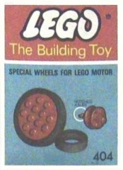 Lego 404 Wheels for Motor (The Building Toy)