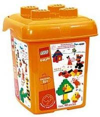 Lego 4089 Orange Bucket XL