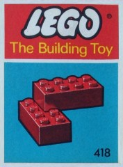 Lego 418 2 x 4 Bricks (The Building Toy)