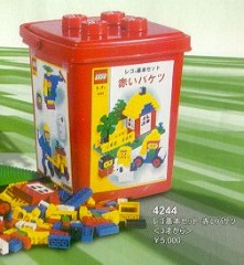 Lego 4244 XL Bucket Red