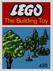 Lego 430 Six Trees and Bushes (The Building Toy)