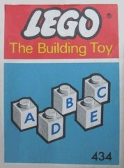 Lego 434 50 lettered bricks (The Building Toy)